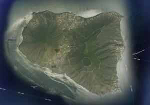 Isola di Salina vista dal satellite